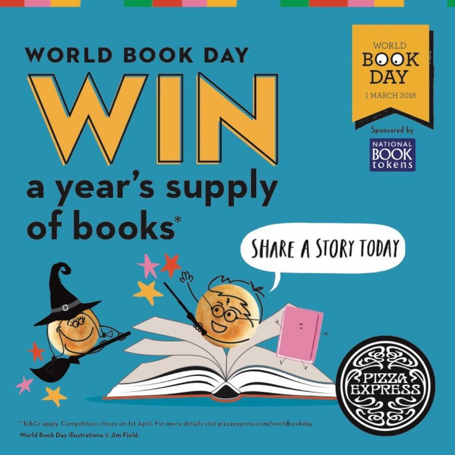 Pizza Express - World Book Day, win a years supply of books