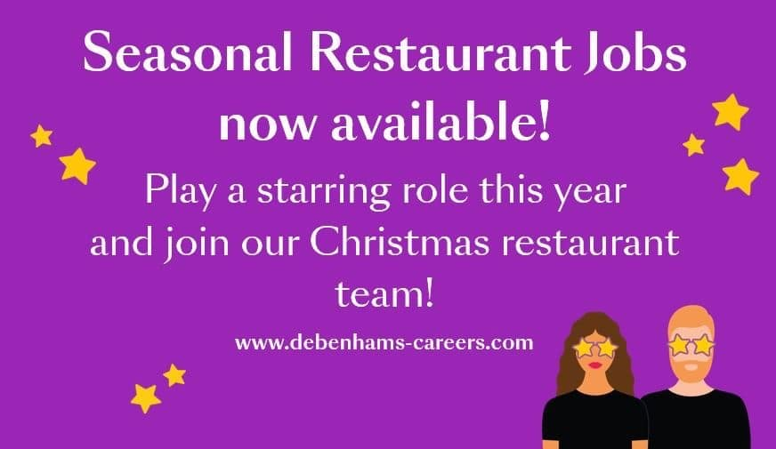 Seasonal Restaurant Jobs Thistles Shopping Centre Stirling